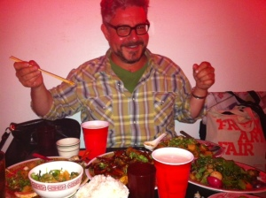 Tucking into opening Night at Mission Chinese NYC